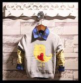 毛衣-童裝男童針織衫毛衣冬季兒童休閒棉線衫中大童卡通恐龍套頭衫上衣 依夏嚴選