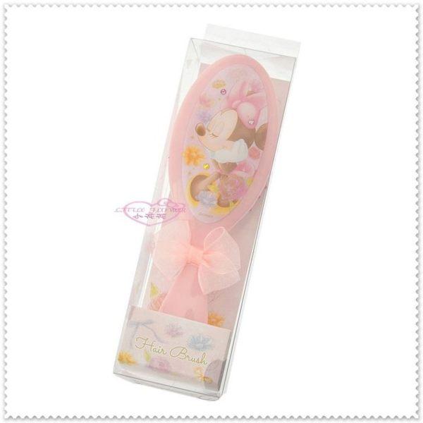 小花花日本精品♥Hello Kitty 迪士尼 米妮 甜美系列 粉色 蓬鬆絲帶蝴蝶結 按摩頭皮梳 梳子96503904