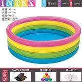 INTEX充氣游泳池成人兒童家庭家用室內加厚水池小孩滑梯水上樂園 晴川生活館NMS