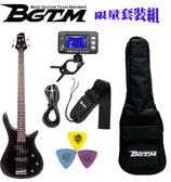 ★集樂城樂器★嚴選BGTM JB-150BK電貝司套裝組(黑)~15W音箱加購999!