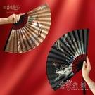 當時盛開 古風折扇中國風扇子禮品扇紙面流蘇吊墜折疊紙扇禮盒裝 小時光生活館