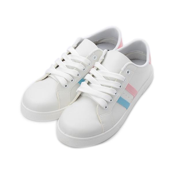RoosteR 雙帶休閒運動鞋 白粉 25096 女鞋 鞋全家福
