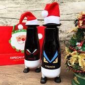 水杯 聖誕俏皮表情對杯組 玻璃杯 加贈精美提袋+小聖誕帽x2 交換禮物 耶誕節送禮  收納女王