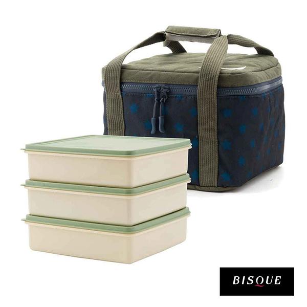 3色I日本BISQUE CAMP 三層野餐盒保溫提袋組