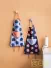圍裙 圍裙韓版家用廚房防水防油可愛時尚圍腰掛脖工作清潔做飯半身圍裙 店慶降價