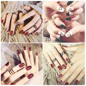 指甲貼紙防水持久美甲貼紙全貼韓國3d指甲貼片美甲成品可穿戴飾品