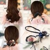 丸子頭花朵盤發器韓式懶人發帶頭飾造型器百變蓬鬆花苞頭扎頭發飾