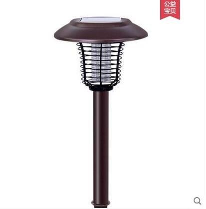褐色 非晶硅太陽能滅蚊燈捕蚊器家用戶外室外庭院花園驅蚊殺蟲燈led防水   JN