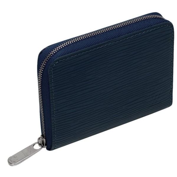【雪曼國際精品】LV M60384 經典EPI皮革水波紋拉鍊零錢包(靛藍色)~二手9.6成新