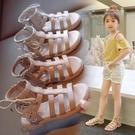 女童涼鞋 女童涼鞋夏季新款兒童鏤空公主鞋小女孩時尚軟底露趾羅馬涼鞋-Ballet朵朵