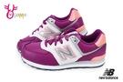 New Balance 574運動鞋 女童鞋 防水 寬楦 休閒慢跑鞋M8513#桃紅◆OSOME奧森鞋業