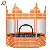 城堡蹦蹦床家用兒童室內外增高寶寶彈彈床小孩家庭戶外跳跳床WY【新年交換禮物降價】