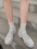 網紅粗跟鞋學院風瑪麗珍單鞋2021夏新款ins復古英倫厚底小皮鞋女 童趣屋 交換禮物