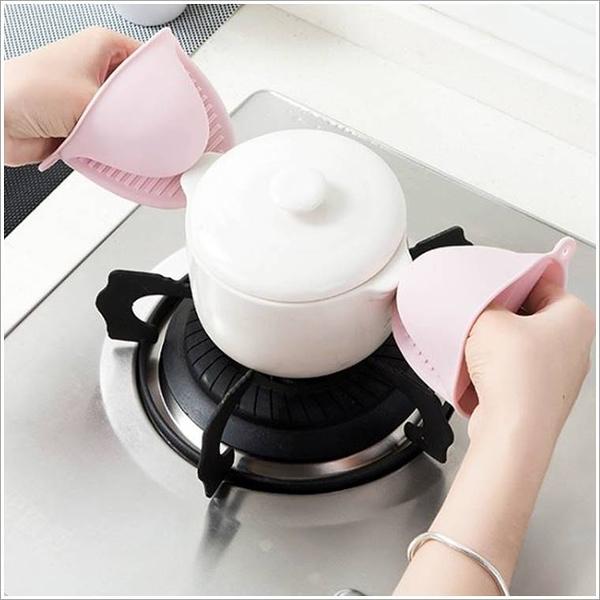 現貨-微波爐烤箱隔熱防燙夾 廚房加厚矽膠防熱端菜手套【B126】『蕾漫家』