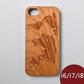 Woodu 木製手機殼 在世界旅行 iPhone i6 i7 i8適用