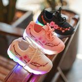 童鞋/休閒鞋  1-3歲軟底女童春秋季梅花刺繡網鞋小學生嬰幼兒運動鞋