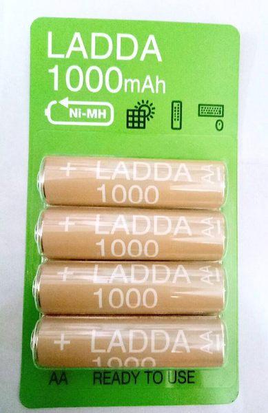 IKEA AA電池 3號電池 1.2V 充電電池 四顆裝 遙控器 滑鼠