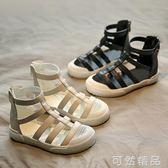 女童涼鞋新款夏季羅馬鞋韓版女孩包頭時尚公主鞋中大童沙灘鞋 可然精品