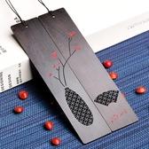 書籤紅木制南國相思豆/紅豆書簽套裝復古風實用禮品送女朋友生日禮物 古典中國風交換禮物
