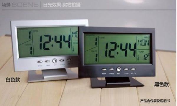 【世明國際】KD-3608萬年曆電子鐘LED數字鐘 觸控大螢幕夜光聲控鐘 溫度計鬧鐘老人鐘