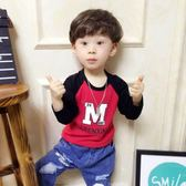 T恤—兒童裝男童長袖T恤純棉打底衫寶寶衛生衣中小童單衣薄款 korea時尚記