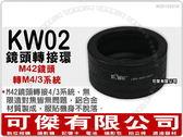 KW02 鏡頭轉接環【 Zeiss Pentax M42 鏡頭 轉 M4/3 機身】