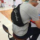 尾牙年貨節日系原宿純色腰包運動帆布胸包男洛麗的雜貨鋪