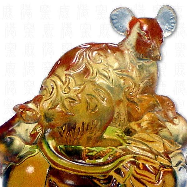 鹿港窯-居家開運商品-琉璃SS十二生肖文鎮-鼠-附精美包裝◆免運費送到家