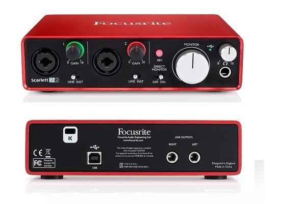 【WowLook】全新 Focusrite Scarlett 2i2 二代 (2nd Gen) 錄音介面 MK2