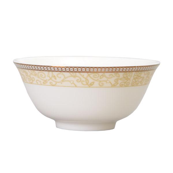 【Luzerne】陸升瓷器 Splendour Gold 11cm 反口湯碗 /CW1601011