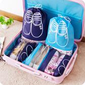 裝鞋子收納袋旅行鞋包整理袋子鞋盒旅遊鞋袋鞋罩鞋套鞋帶透明鞋袋(中號5個)─預購CH1827