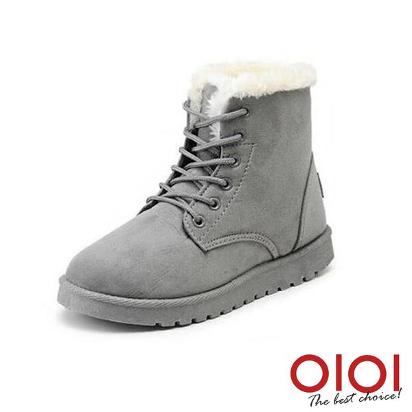 雪靴 冬氛簡約綁帶厚底雪靴(灰) *0101shoes【18-668gy】【現貨】