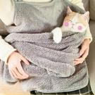 擼貓神器貓袋衣胸前抱貓兜貓咪圍裙衣服防毛圍兜狗狗外出便攜貓包