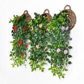 仿真花玫瑰壁掛婚慶假花家居裝飾花掛壁花人造玫瑰假玫瑰壁掛假花【小梨雜貨鋪】