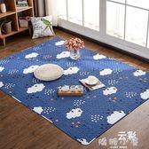 日式全棉地墊地毯防滑客廳臥室床邊毯榻榻米墊新款四季兒童爬行墊  嬌糖小屋