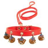 聖誕節交換禮物-狗狗鈴鐺項圈牽引繩狗?子泰迪小型犬中型遛狗貓咪狗繩子寵物用品