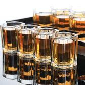 青蘋果玻璃白酒杯套裝6酒杯12只裝托盤架子洋酒杯家用小號一口杯
