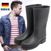 水靴 中筒釣魚休閒雨靴 水鞋套鞋膠鞋防滑雨鞋男 【店慶8折促銷】