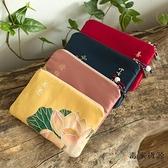 古風零錢包女布藝硬幣方包迷你卡包零錢袋禪意復古錢包【毒家貨源】