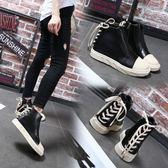 休閒鞋女韓版百搭冬季學生新款馬丁靴女高筒鞋子 萬客居