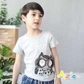 童裝 上衣 貓頭鷹竹節棉短袖T恤(共2色)
