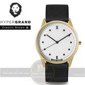 Hypergrand新加坡設計前衛時尚品牌01基本款系列腕錶-黑皮革CW01GWBLK公司貨