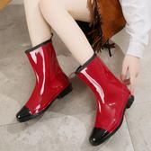 中筒韓國時尚雨鞋雨靴女(共8色)夏季成人套鞋工作防水鞋防滑膠鞋