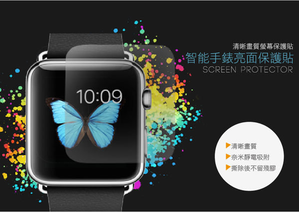 FEEL時尚 ASUS ZenWatch 2 (WI502Q) 手錶 亮面 靜電 抗刮 螢幕保護貼 膜