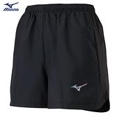 MIZUNO 女裝 短褲 慢跑 路跑 褲口反光 兩側拉鍊口袋 單層 黑【運動世界】J2TB125499