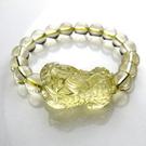 開光黃水晶貔貅手鏈