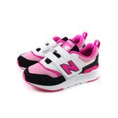 New Balance 運動鞋 跑鞋 魔鬼氈 白/粉 中童 童鞋 PZ997HEP no568