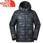 【The North Face 男款 700fp 連帽羽絨外套《黑印花》】35E7XZN/羽絨外套/外套/保暖外套★滿額送