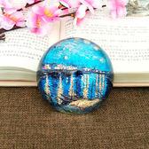 油畫星夜水晶半球鎮紙壓案工藝品裝飾創意禮品擺件       SQ9061『寶貝兒童裝』TW『寶貝兒童裝』TW