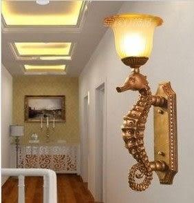 設計師美術精品館新款酒店工程創意樹脂壁燈高檔歐式壁燈地中海書房燈過道燈走廊燈